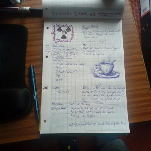 Wasteland Tearooms - Notes - LDJAM41 Post-Apocalyptic Turn Based Strategy Text Adventure Tea Room Management Sim
